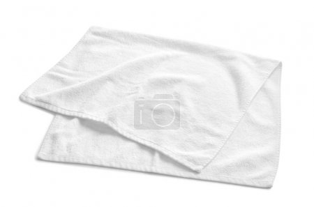 Photo for Soft terry towel on white background - Royalty Free Image