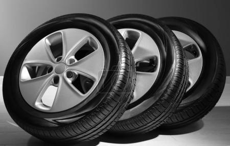 Car tires with rims