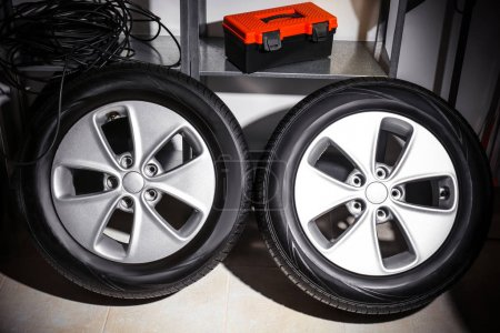tires in automobile service center