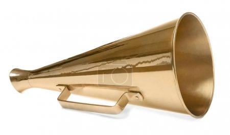 Vintage megaphone on white background