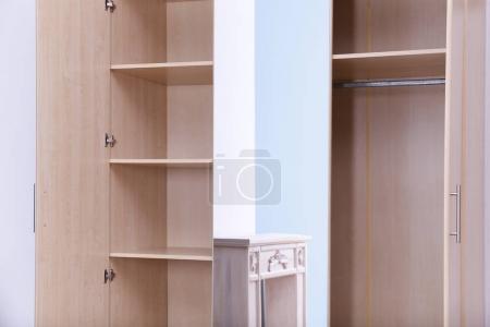 View of large wardrobe