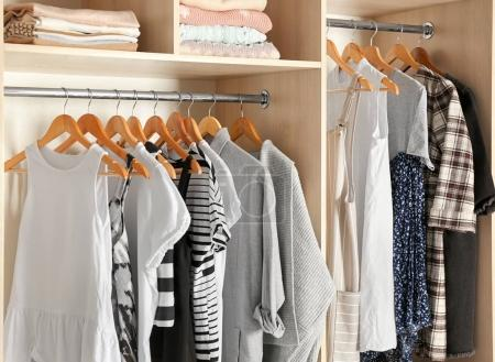 Photo for Large wardrobe closet with different clothes - Royalty Free Image