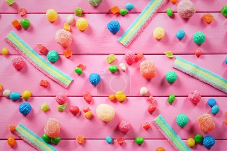 Colorful chewy candies