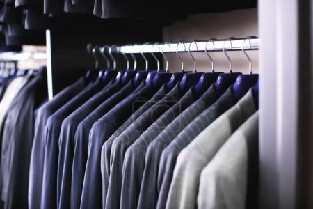 Rack with suit jackets