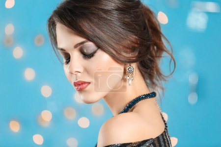 young woman with elegant jewelry