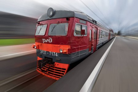 Vieux train électrique des chemins de fer russes
