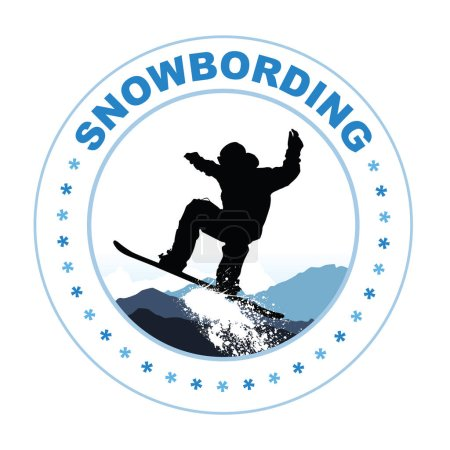 Snowboarding vector illustration