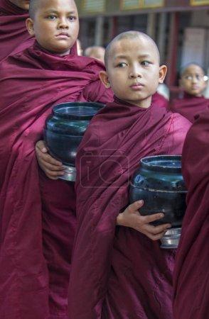 Monks at the Mahagandayon Monastery Myanmar