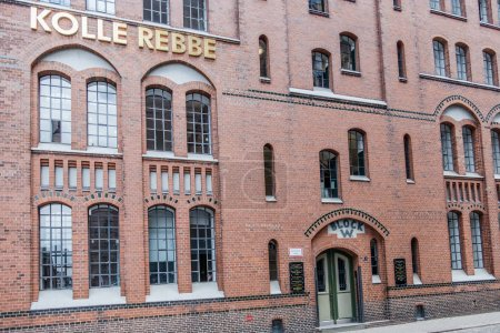 Hamburg , Germany - July 14, 2017: Kolle Rebbe is priducing media content in the famous Speicherstadt of Hamburg