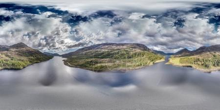 Photo for Aerial view of Loch Leven between Caolasnacon and Glencoe, Lochaber, Scotland - Royalty Free Image