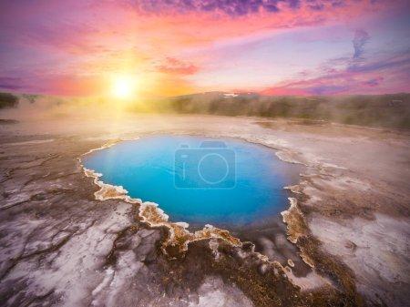 Incredibly blue pool Blahver at Hveravellir is act...