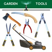 Set of garden cutting tools Vector illustration