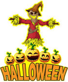 Halloween Poster with Scarecrow