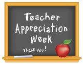 Teacher Appreciation Week Chalkboard Thank You! Apple