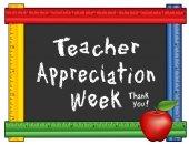 Teacher Appreciation Week Ruler Frame Apple