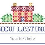 New Listing real estate yard sign, retro cross sti...