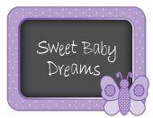 Baby Butterfly Nap time Nursery Bulletin Board Sweet Baby Dreams