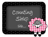 Baby Lamb Nap time Nursery Bulletin Board Counting Sheep