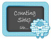 Baby Lamb Nursery Bulletin Board Counting Sheep