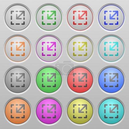 Resize element plastic sunk buttons
