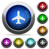 Airplane glossy buttons