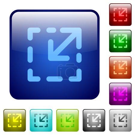 Resize element color square buttons