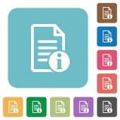 Document info square flat icons