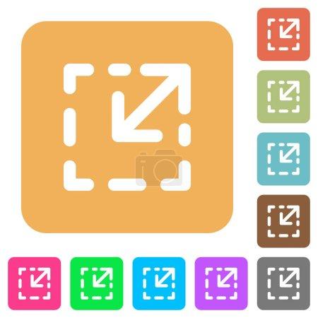 Resize element rounded square flat icons