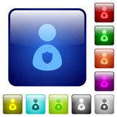 Security guard color square buttons