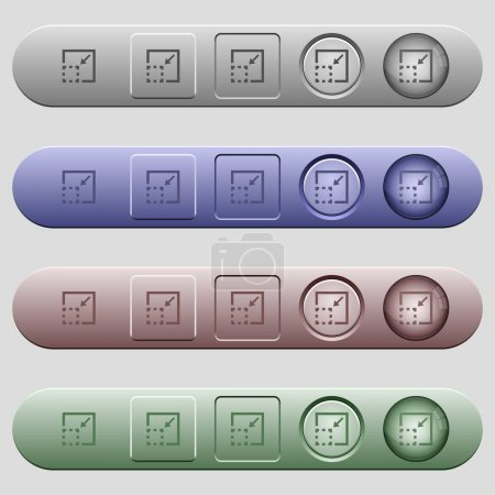 Minimize element icons on menu bars