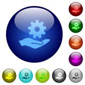 Maintenance service color glass buttons