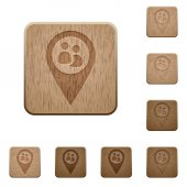 Fleet tracking on rounded square carved wooden button styles