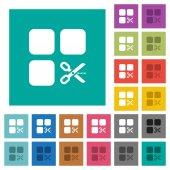 Součást čtvercový plochý multi barevné ikony