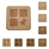 PIN kód komponenty dřevěný knoflík