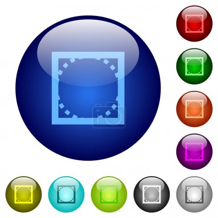 Rounded corner settings color glass buttons