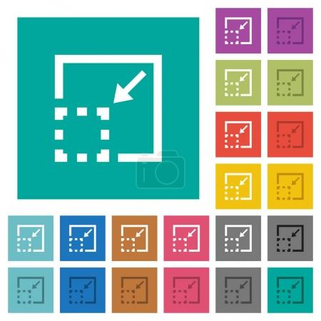Minimize element square flat multi colored icons