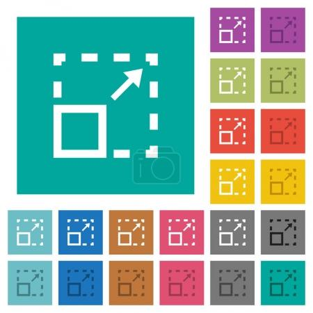 Maximize element square flat multi colored icons