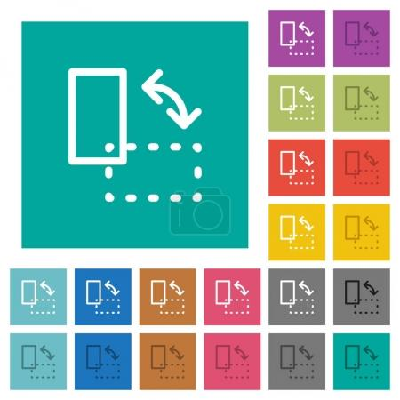 Rotate element square flat multi colored icons