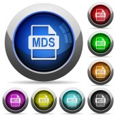 MDS file format round glossy buttons
