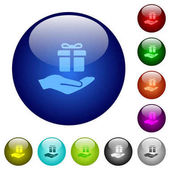 Gifting color glass buttons