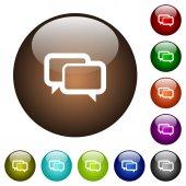 Chat bubbles color glass buttons