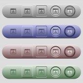 Networking application icons on horizontal menu bars