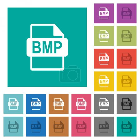 BMP file format square flat multi colored icons