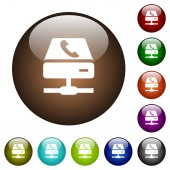 VoIP services color glass buttons