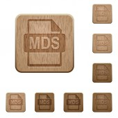 MDS file format wooden buttons