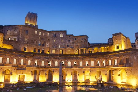Ruins of the Trajan's Forum (Foro di Traiano) in Rome, Italy