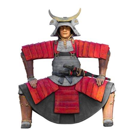 the samurai statue