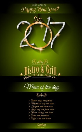 New Year Restaurant Menu