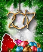 New Year Background Greeting Card