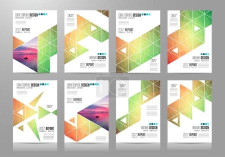 Set of Brochure templates, Flyer Designs